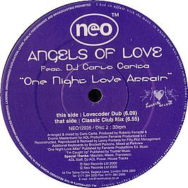 Angels Of Love Feat DJ Carlo C - One Night Love Affair Record