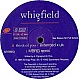 WHIGFIELD - THINK OF YOU - SYSTEMATIC - VINYL RECORD - MR137307