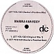 MARINA VAN ROOY - LET YOU GO (SASHA REMIX) - DECONSTRUCTION - VINYL RECORD - MR4425