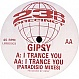 GYPSY - I TRANCE YOU - LIMBO 3 - VINYL RECORD - MR538