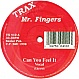 MR FINGERS - CAN U FEEL IT (IN THE BEGINNING VOCAL) - TRAX 410 - VINYL RECORD - MR80378