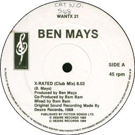 Ben Mays - X Rated