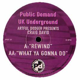 Artful Dodger Present Craig David  - Rewind / What Ya Gonna Do
