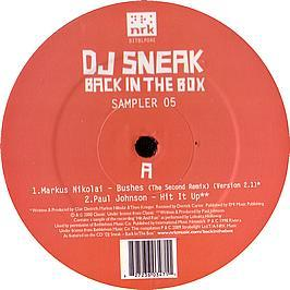 DJ Sneak - Back In The Box (Sampler 5)