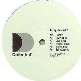 Defected Presents - Accapellas Vol.6
