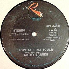 Kathy Barnes - Love At First Touch