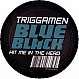 TRIGGAMEN - HIT ME IN THE HEAD - BLUE BLACK  - VINYL RECORD - MR143892
