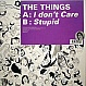THE THINGS - I DON'T CARE - KITSUNE  - VINYL RECORD - MR145635