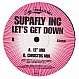 SUPAFLY INC. - LET'S GET DOWN - EYE INDUSTRIES - VINYL RECORD - MR151350
