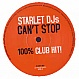 STARLET DJS - CAN'T STOP - CLUB HIT 2 - VINYL RECORD - MR162294