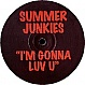 SUMMER JUNKIES - I'M GONNA LUV U (DJ FLAVOURS) - RUFF ON WAX - VINYL RECORD - MR16329