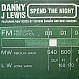 DANNY J LEWIS - SPEND THE NIGHT - LOCKED ON - VINYL RECORD - MR18063