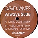 DAVID JAMES - ALWAYS 2008 - SOULKANDY - VINYL RECORD - MR277286