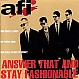 AFI - ANSWER THAT AND STAY FASHIONABLE - NITRO - CD - MR336827