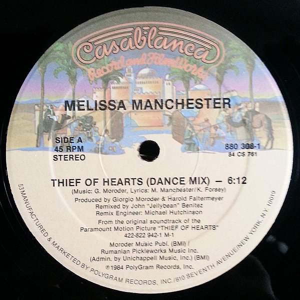 MELISSA MANCHESTER - THIEF OF HEARTS - CASABLANCA - VINYL RECORD - MR342285