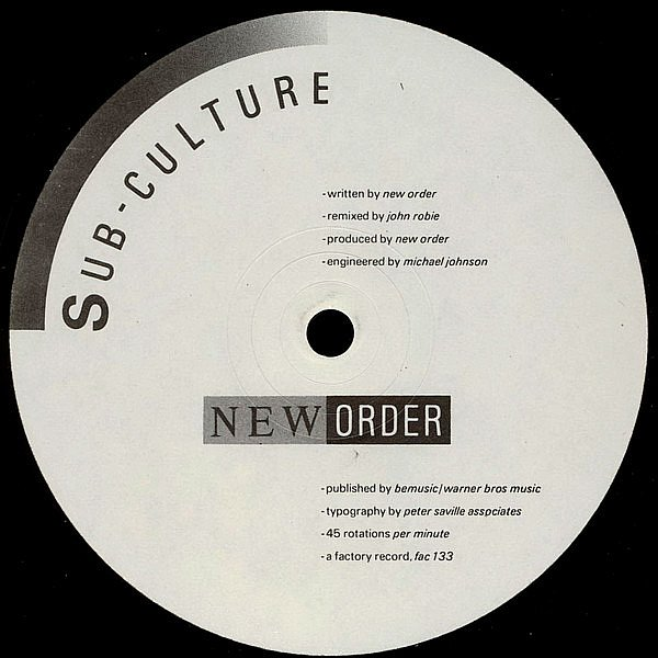 NEW ORDER - SUB-CULTURE - FACTORY - VINYL RECORD - MR46917