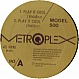 MODEL 500 - PLAY IT COOL - METROPLEX - VINYL RECORD - MR4713