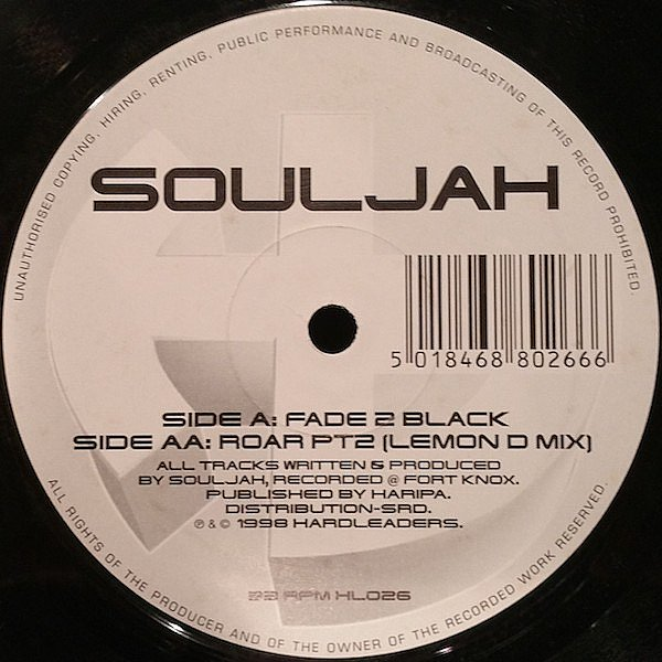 SOULJAH - FADE 2 BLACK - HARD LEADERS - VINYL RECORD - MR63289