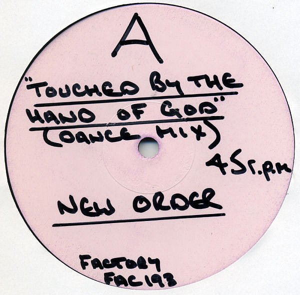 NEW ORDER - TOUCHED BY THE HAND OF GOD - FACTORY - VINYL RECORD - MR752813
