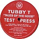 STICKY FEAT TUBBY T - TALES OF THE HOOD - SOCIAL CIRCLES - VINYL RECORD - MR76804